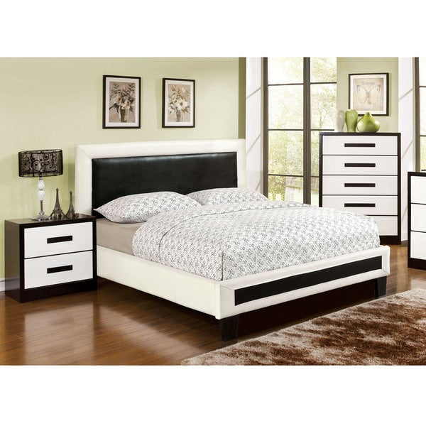 furniture of america blairess 3 piece contemporary duo tone bedroom
