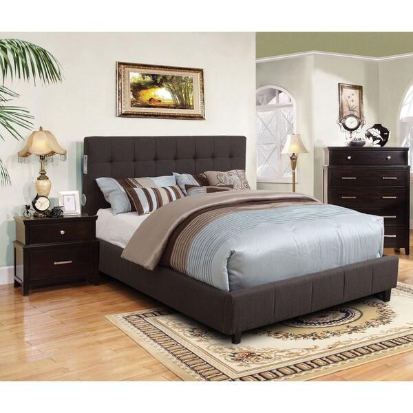 Furniture of america behati 3 piece bluetooth grey bedroom for Grey bedroom furniture set