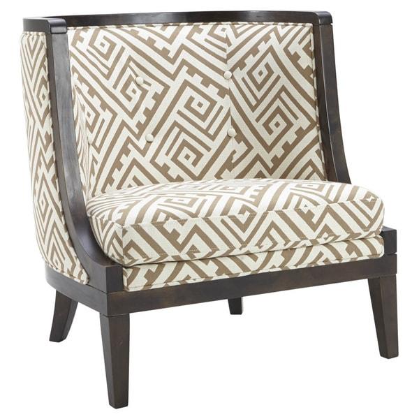 Sunpan u0026#x27;5Westu0026#x27; Walters Geometric Fabric Upholstered Armchair  sc 1 st  Overstock.com & Shop Sunpan u00275Westu0027 Walters Geometric Fabric Upholstered Armchair ...