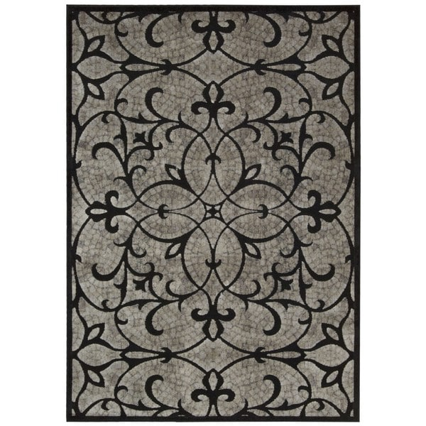 Nourison Graphic Illusions Black Area Rug