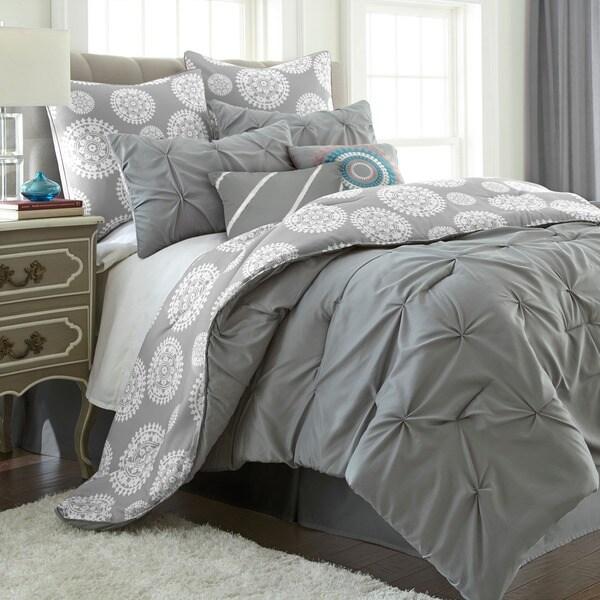 Amraupur Overseas Lorna Multicolored Reversible 8-piece Comforter Set