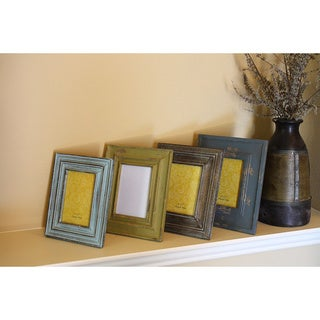 Timbergirl Hand-carved Distressed Reclaimed Wood Photo Frame , Handmade in India