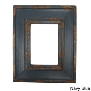 timbergirl hand carved distressed reclaimed wood photo frame handmade in india
