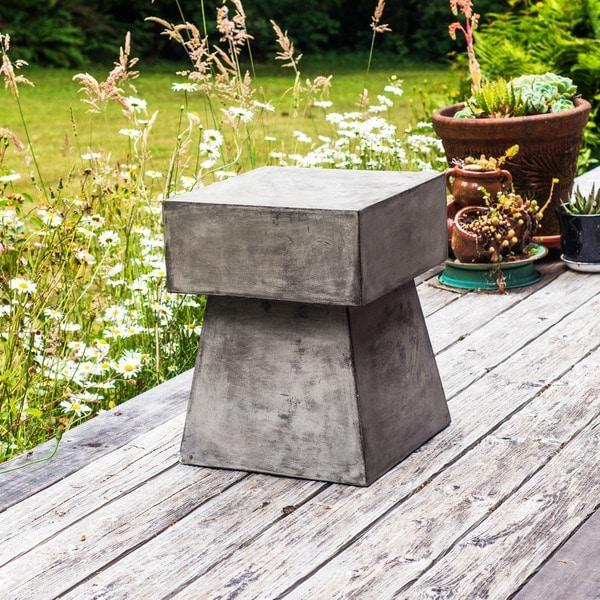 Handmade Eco-fiber Cement Mushroom End Table (Indonesia)
