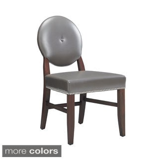 Sunpan Florence Leather Dining Chairs (Set of 2)