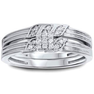 10k White Gold 1/4ct TDW Diamond 2-piece Ring Set (I-J, I2-I3)