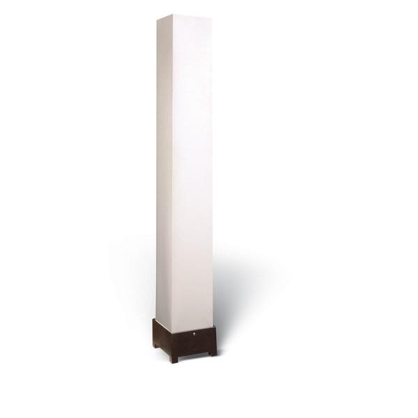 Sunpan Beijing Espresso Wood Modern Floor Lamp