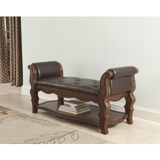 Signature Design by Ashley Brown Ledelle Brown Upholstered Bench