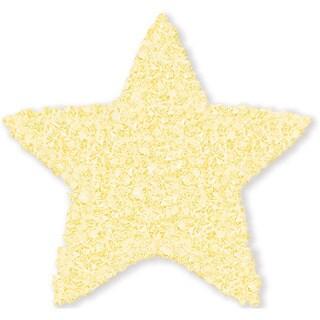 Shaggy Raggy Yellow Star Cotton Shag Rug