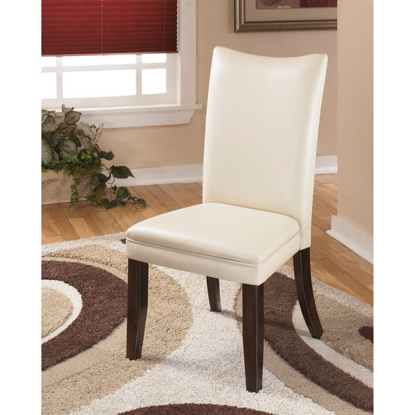 Ivory Leather Dining Room Chairs: Signature Design By Ashley Charrell Ivory Faux Leather Dining Chair (Set Of 2)