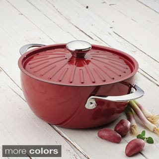 Rachael Ray Cucina Oven-To-Table Hard Enamel Nonstick 4-1/2-quart Covered Round Casserole|https://ak1.ostkcdn.com/images/products/9216688/P16385937.jpg?impolicy=medium