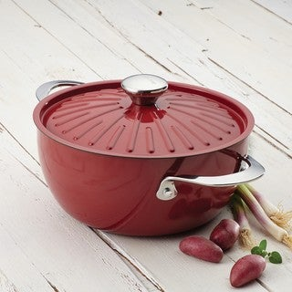 Rachael Ray Cucina Oven-To-Table Hard Enamel Nonstick 4-1/2-quart Covered Round Casserole