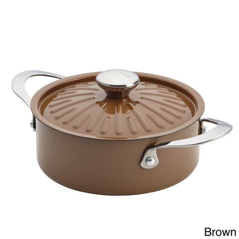 Rachael Ray Cucina Oven-To-Table Hard Enamel Nonstick 2-1/2-quart Covered Round Casserole
