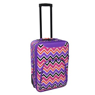 World Traveler Lightweight 20-inch Chevron Premier Carry-on Upright (2 options available)