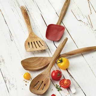 Rachael Ray Cucina Tools 12-1/2-inch Wooden Slotted Turner|https://ak1.ostkcdn.com/images/products/9216748/P16386008.jpg?impolicy=medium