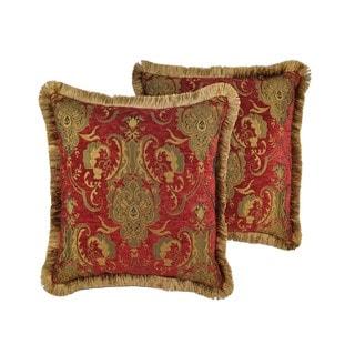 Sherry Kline China Art Red 20-inch Decorative Throw Pillows (Set of 2)