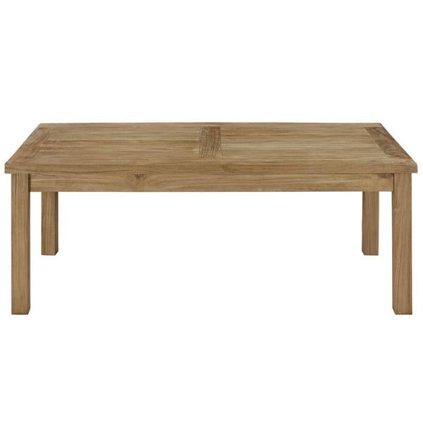 Outdoor Teak Coffee Table: Pier Outdoor Patio Teak Rectangle Coffee Table