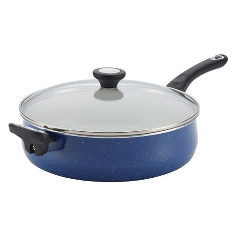Farberware New Traditions Blue Speckled Aluminum Nonstick 5-quart Jumbo Cooker with Helper Handle