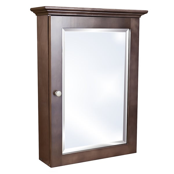 Small Bathroom Medicine Cherry Stained Wall Mounted Medicine Cabinet Free