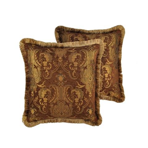 Sherry Kline China Art Brown 20-inch Decorative Throw Pillows (Set of 2)