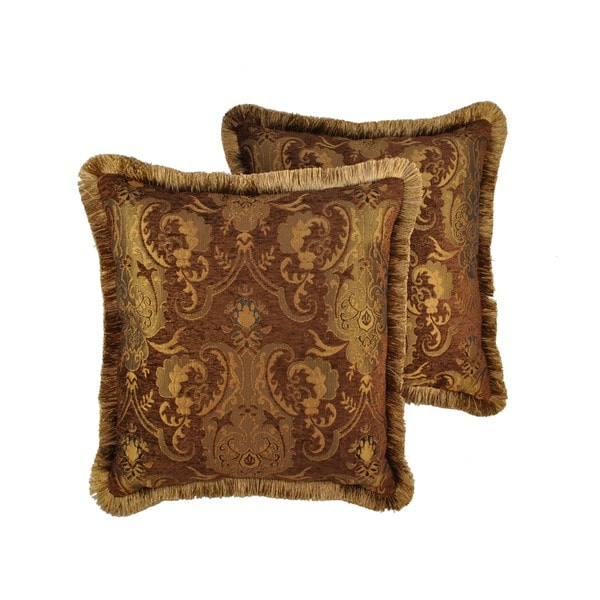 Shop Sherry Kline China Art Brown 40inch Decorative Throw Pillows Simple Maroon Decorative Pillows