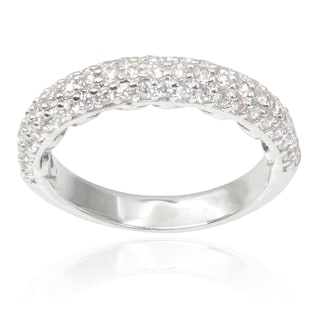 Journee Collection Brass Cubic Zirconia Ring