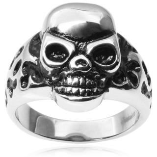 Vance Co. Men's Stainless Steel Skull Ring