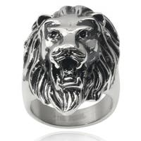 Vance Co. Men's Stainless Steel Lion Ring