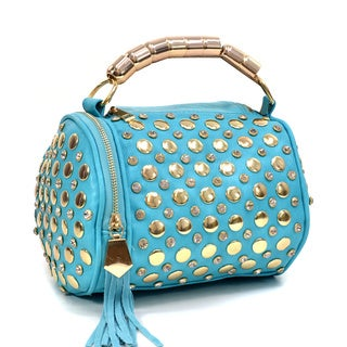 Rhinestone Studded Barrel Bag