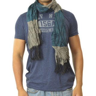 LA 77 Unisex Teal and Blue Double-print Scarf