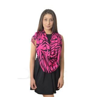 LA 77 Hot Pink Zebra Print Scarf