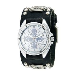 Nemesis Men's Silver Skull Compass Punk-style Watch