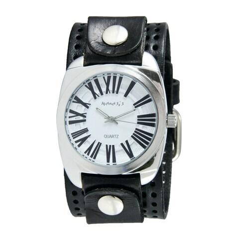 Nemesis Men's Black/ White Retro Roman Watch