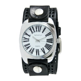 Nemesis Men's Black/ White Retro Roman Watch