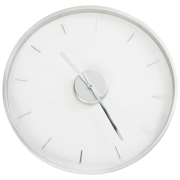 Shop Louise Ghost Mid Century Clear Kartell Lucite Wall Clock Free Shipping Today Overstock