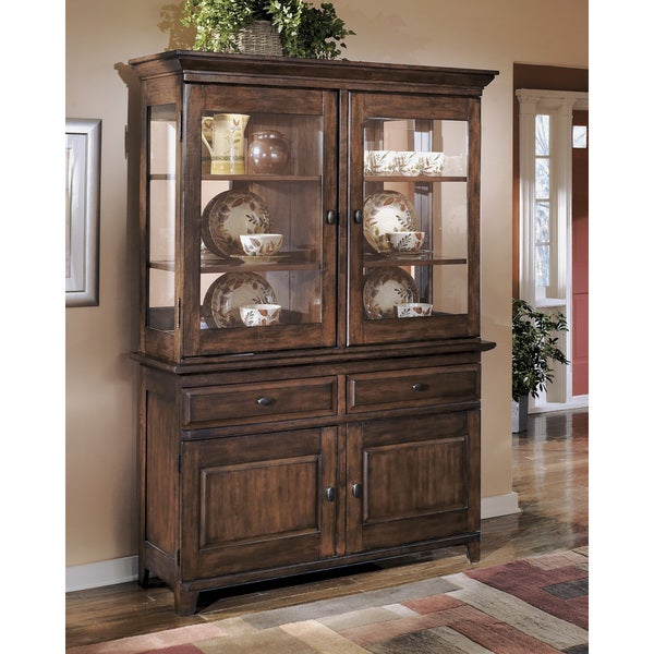 Signature Design by Ashley Larchmont Dining Room China Cabinet ...