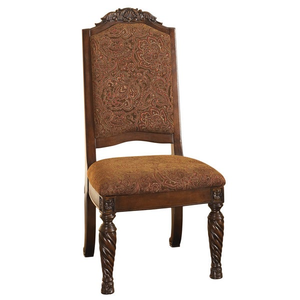 Upholstered Dining Chair Parsons Armless Brown Design: Signature Design By Ashley North Shore Dark Brown