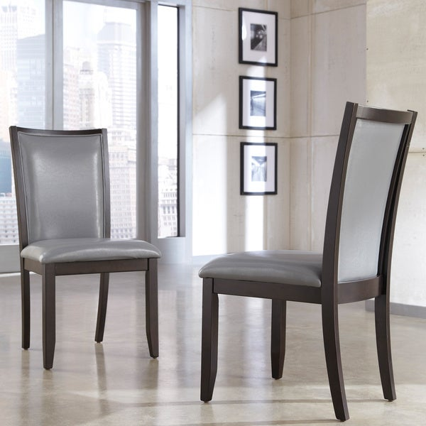 By ashley trishelle grey dining upholstered side chair set of 2