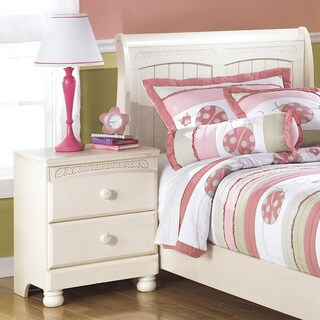 Signature Design by Ashley Cottage Retreat Cream Two Drawer Nightstand