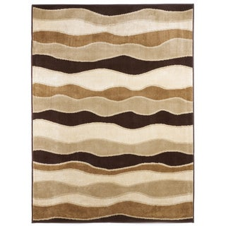 Signature Designs by Ashley Frequency Toffee Waves Area Rug (5' x 7')
