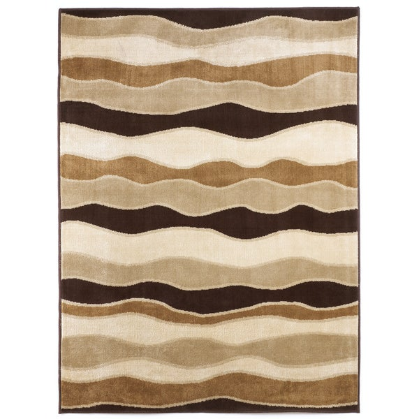 Signature Designs by Ashley Frequency Toffee Waves Area Rug - 5' x 7'