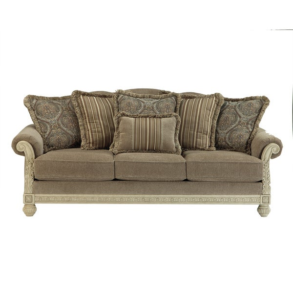 Shop Signature Design By Ashley Parkington Bay Platinum Sofa Free