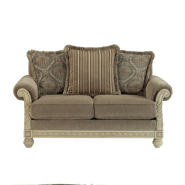 Shop Signature Design By Ashley Parkington Bay Platinum Loveseat