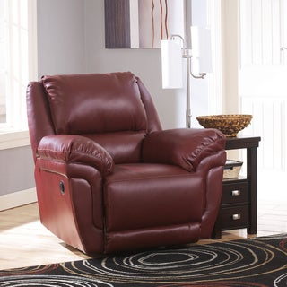 Signature Design by Ashley Magician DuraBlend Garnet Rocker Recliner