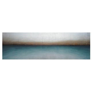 Sunpan 'Teal Haze' Contemporary Canvas Wall Art