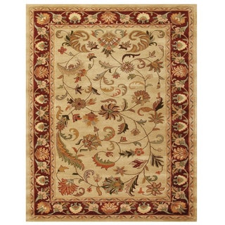 Grand Bazaar Tufted Wool Pile Adair Rug in Ivory/ Red (8' x 11')