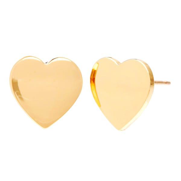 Kate Spade Goldplated High-polish Heart Stud Earrings