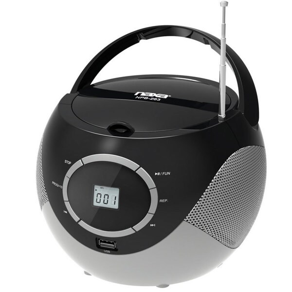 naxa npb 263 portable mini mp3 cd boombox with am fm radio. Black Bedroom Furniture Sets. Home Design Ideas