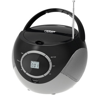 naxa npb 263 portable mini mp3 cd boombox with am fm radio and usb
