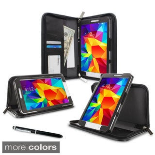 rooCASE Executive Portfolio Leather Case Cover with Stylus for Samsung Galaxy Tab 4 8.0 SM-T330 Foli